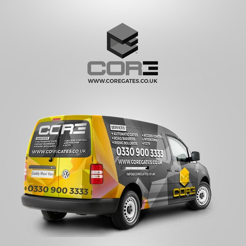 Van Wrap Design For Automatic Gate Company