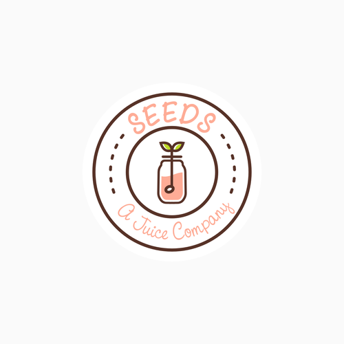 Available for SALE via 1 to 1 Project; Simple emblem logo for juicery
