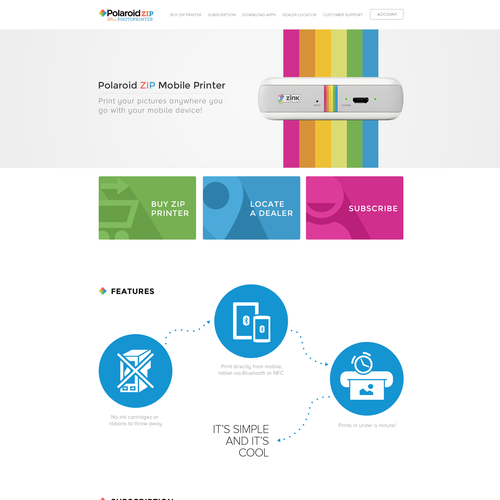 Polaroid Printer Website