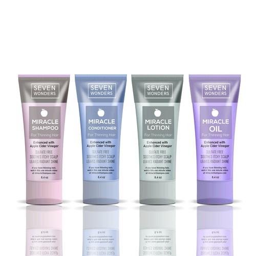Cosmetic hair line set