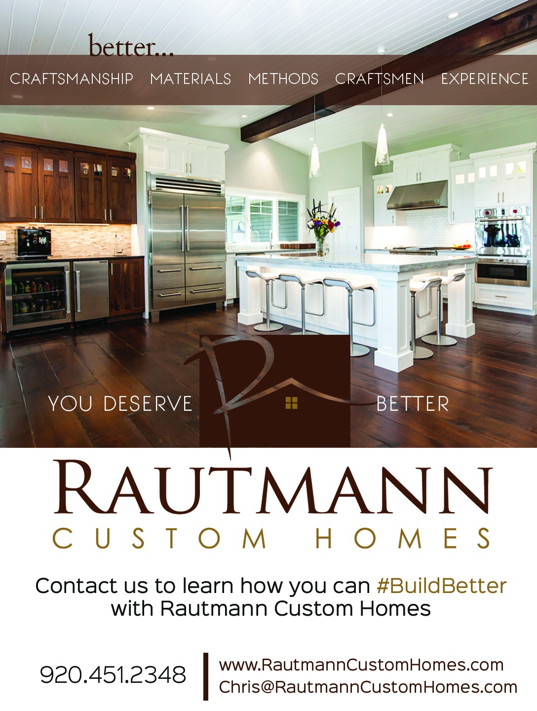 1/4 Page ad for a Custom Home Builder