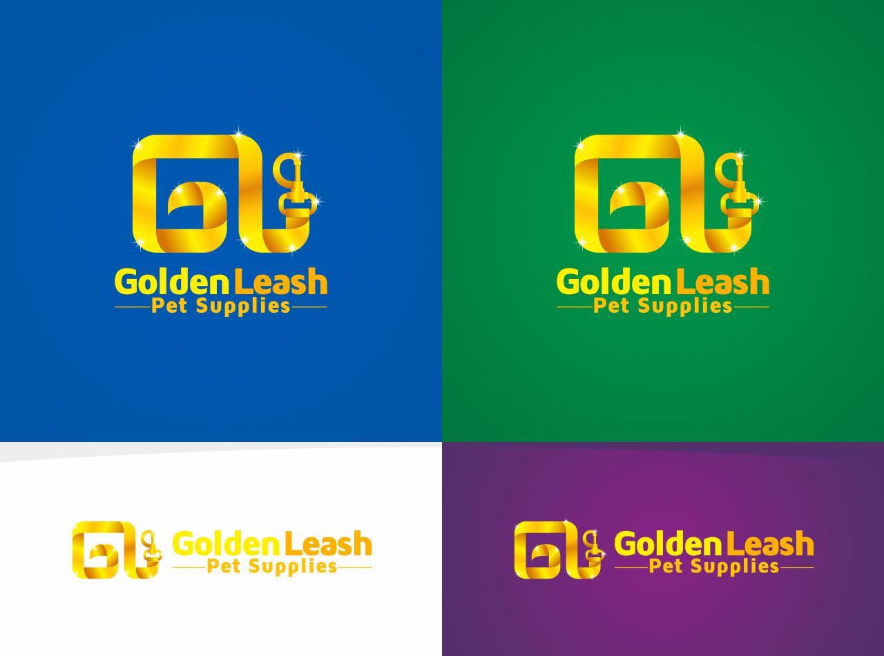 Create the next logo for Golden Leash Pet Supplies