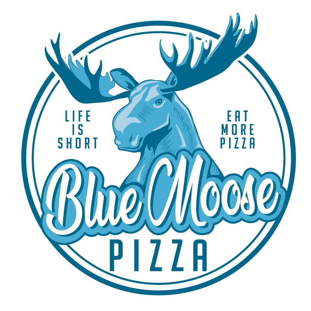 Blue Moose Pizza Logo