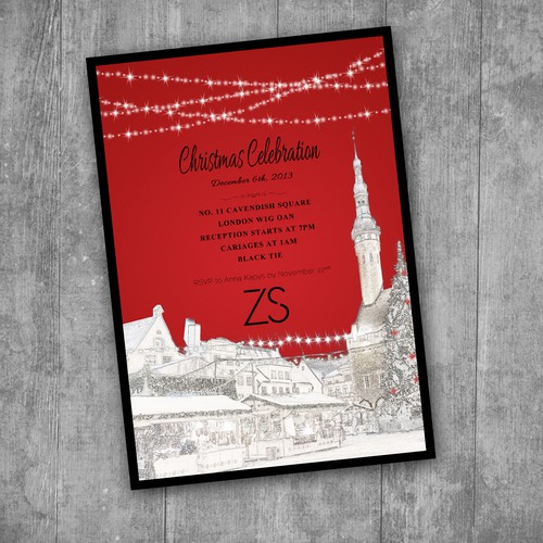 ZS Associates  card or invitation for Christmas Celebration