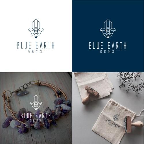 Boho jewelry design logo