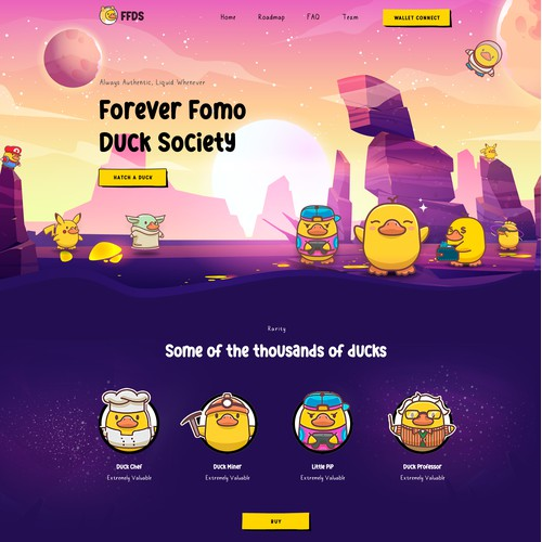 NFT Project Creative Landing Page Design