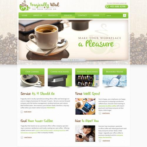 Tragically Vital the Fresh Coffee Co. needs a new website design