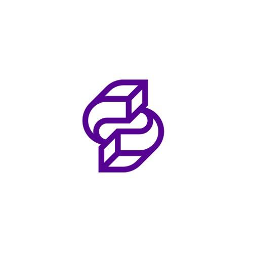 Modern Letter S logo
