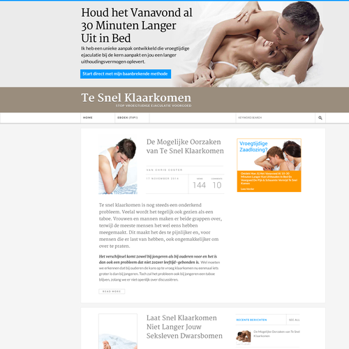 Dutch Wordpress Premature Ejaculation Website Design *Guaranteed Winner*