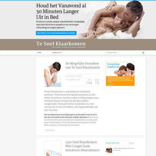 Dutch Wordpress Premature Ejaculation Website Design *Guaranteed Winner*