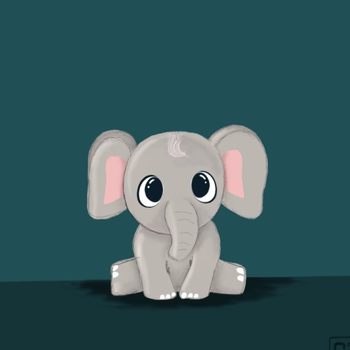 Elephant plush illustration