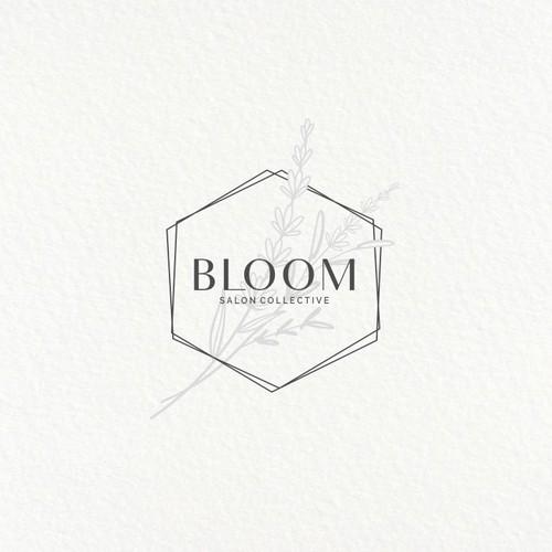 feminine logo for Bloom Salon Collective