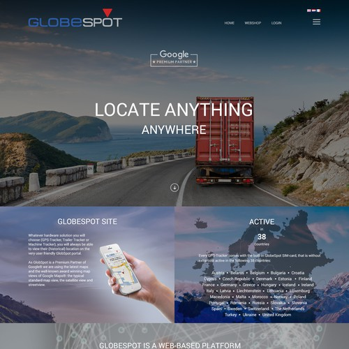 GlobeSpot site design