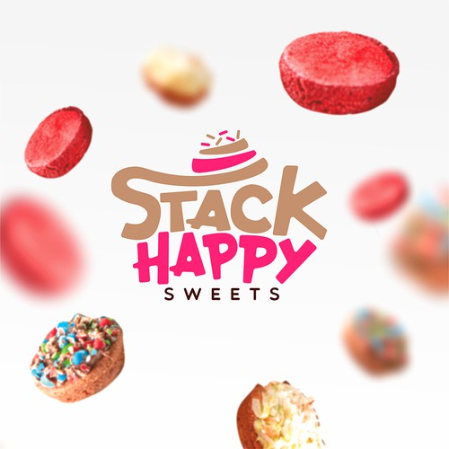 Design whimsical logo for dessert company Stack Happy Sweets