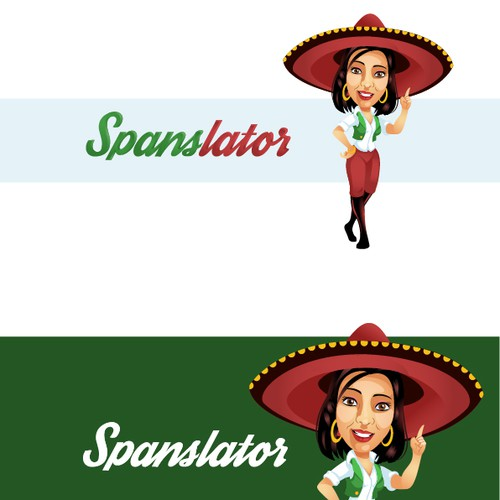 Create a character style logo for Spanslator