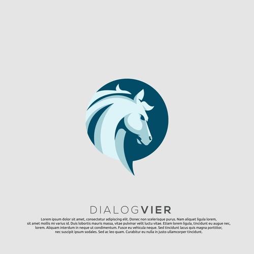 logo concept for dialog vier