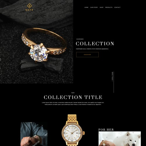 Create the most luxurious website for ONYX
