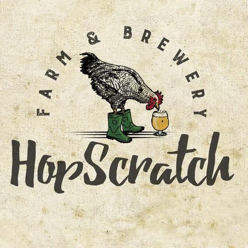 Logo für eine Farm and Brewery