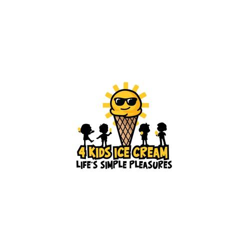 4 Kids Ice Cream Logo