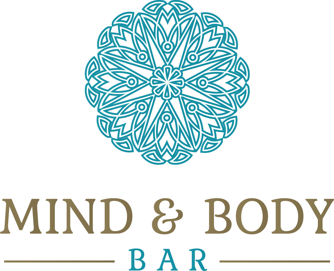 "Logo for ""Mind and Body Bar"" Therapeutic and Natural Wellness Products"
