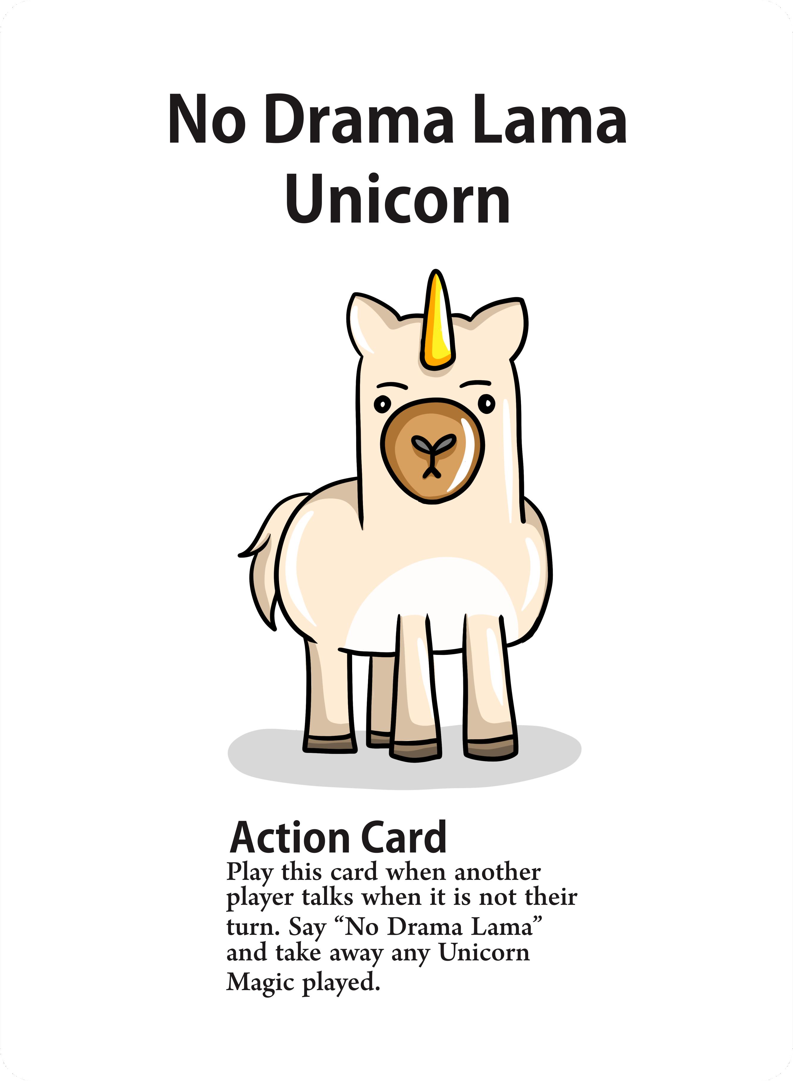 Unicorn Game cards