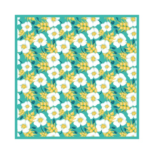 Floral Pattern for a scarf