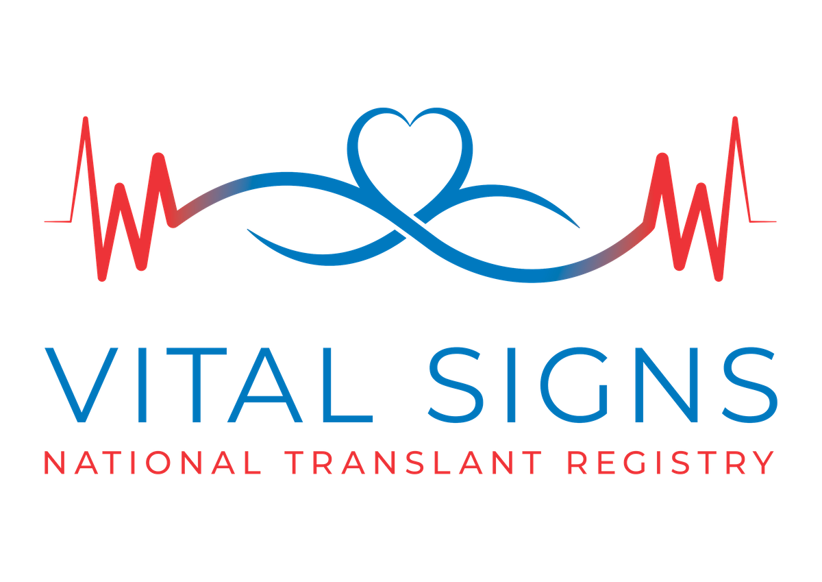 Logo design for Vital Signs National Transplant Registry