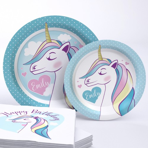 Unicorn party supplies design