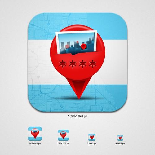 Chicago 311 service - iOS Icon (2pensmedia Inc.)