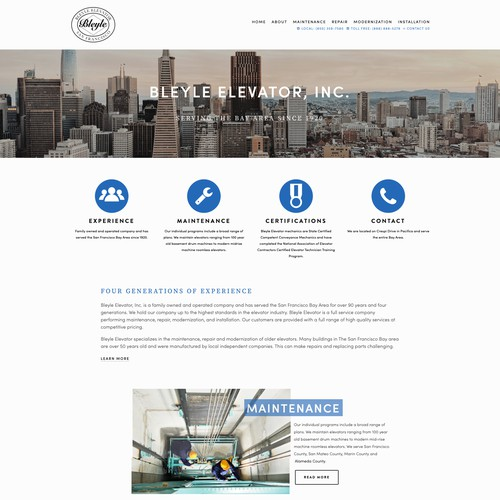 Squarespace website design for family business in San Francisco