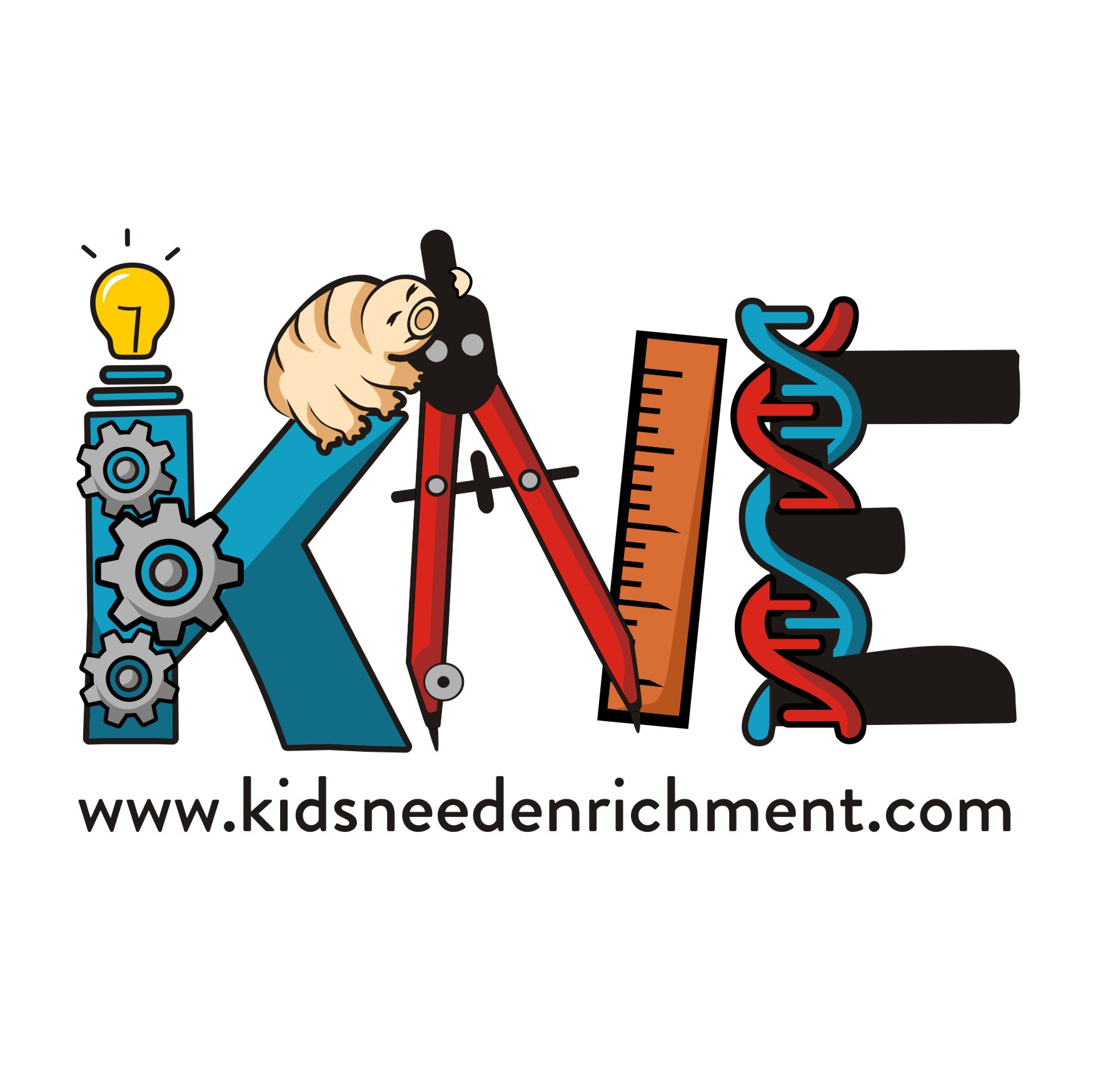 """Create a logo for """"Kids Need Enrichment"""" to help inspire a passion for STEM"""