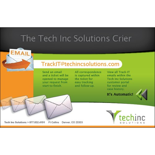Postcard for Help Tech Inc Solutions