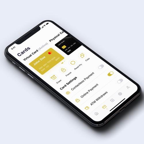 App Design for a bank app