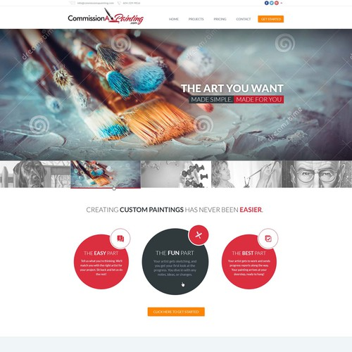 Commision A Painting Homepage