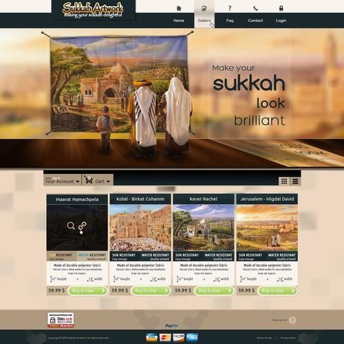 Sukkah Artwork needs a new website design