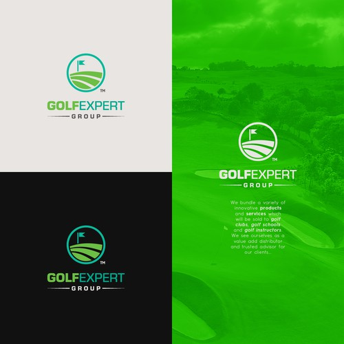 Logo concept for a Golf Company