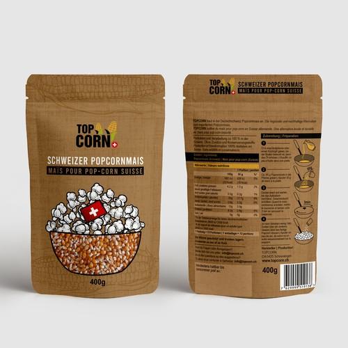 A food packaging- Topcorn