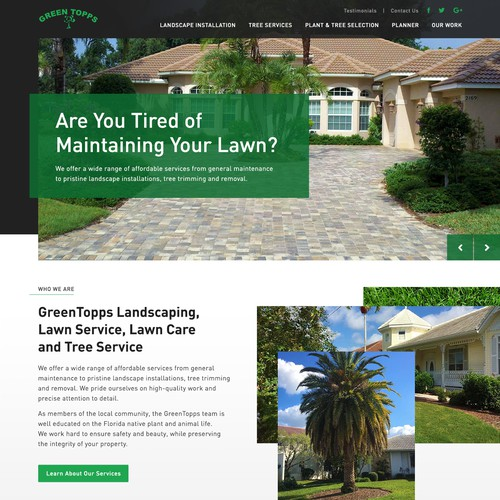 Website for a Landscaping Company