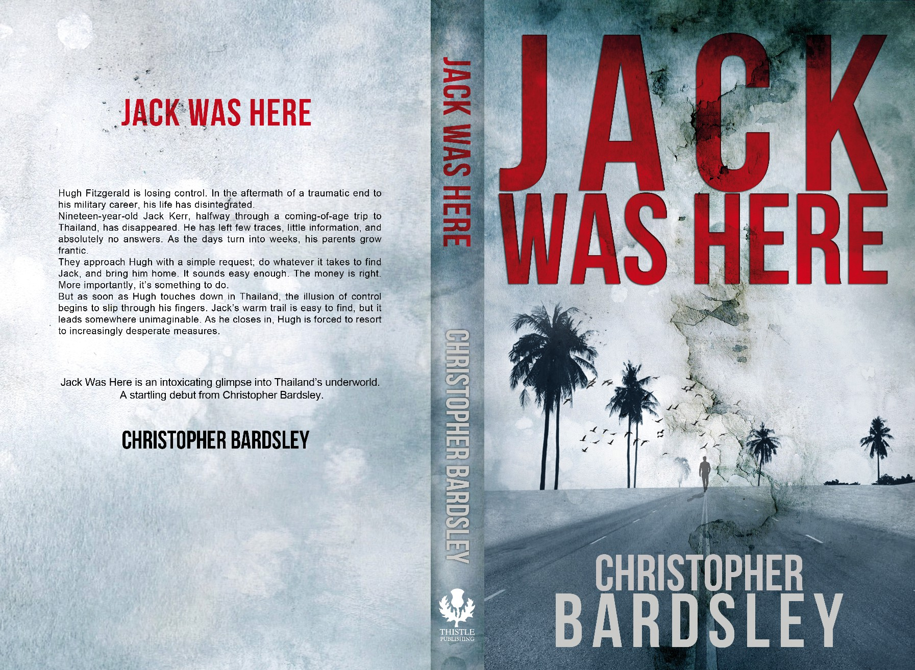 Book cover for quality thriller.