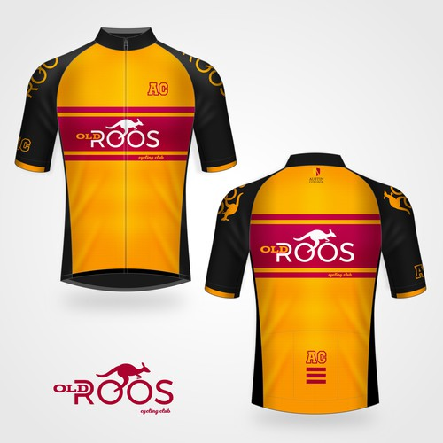 Cycling Jersey design for 'Old Roos' cycling club