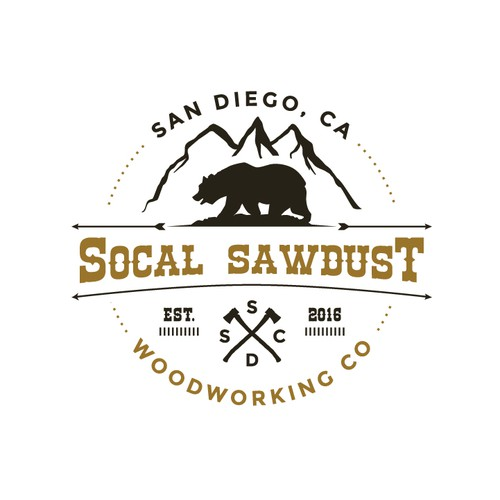 Vintage Socal Sawdust Logo
