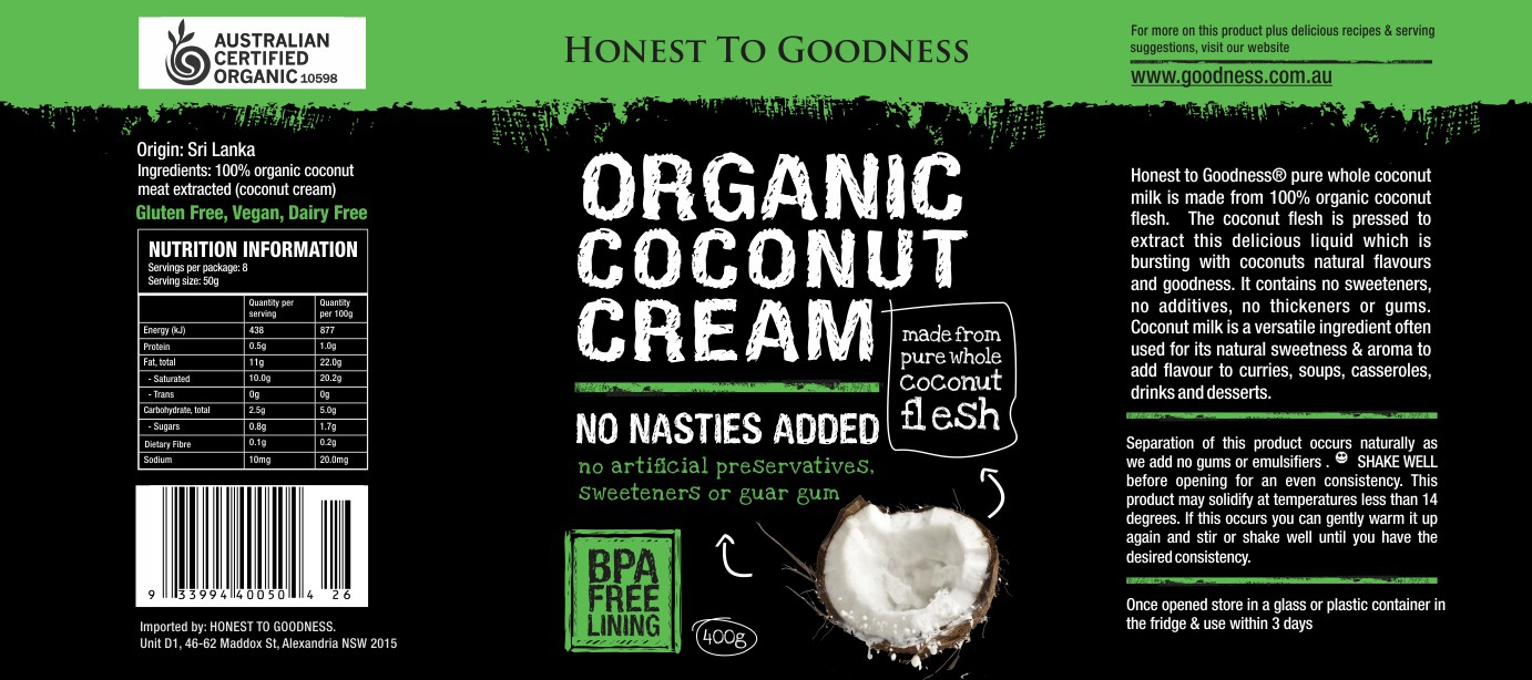 Creat NEW product label for Organic Coconut Products