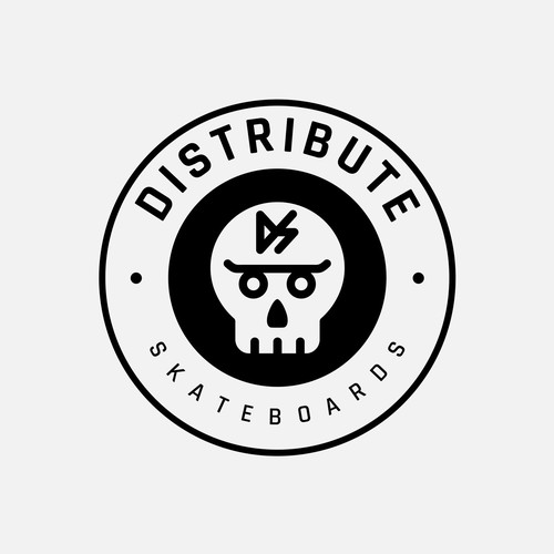 Logo for Distribute Skateboards