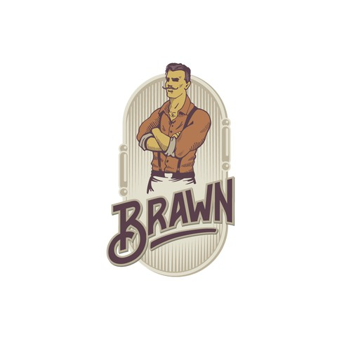Vintage strongman logo