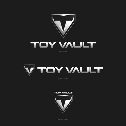 techy and bold logo for Toy Vault