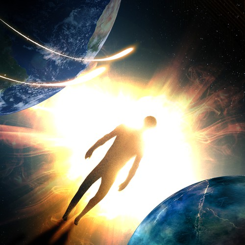 Create space themed cover for futuristic thriller!