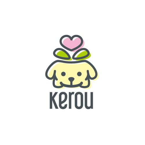 Logo for cute animal-shaped mini flower pots
