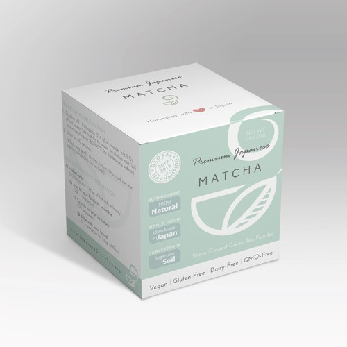 Packaging design for japanese tea company