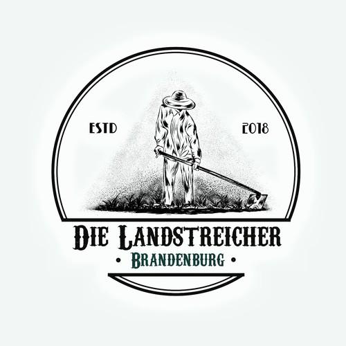 logo concept for Die Brandenburger Landstreicher brauchen dringend Logo für Regionales Food