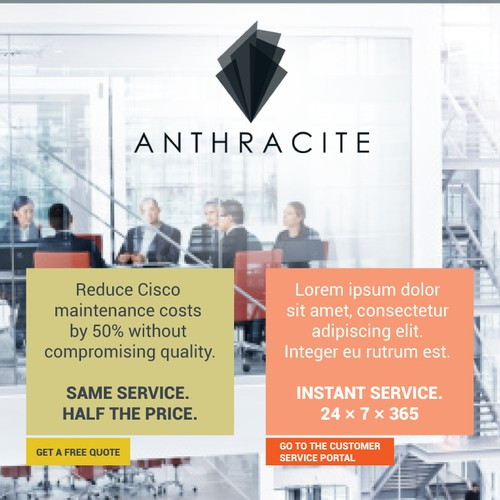 Be the designer for Anthracite Group, a cutting-edge tech start-up!